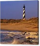 First Light At Cape Hatteras - Fs000257 Canvas Print