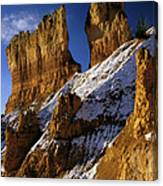 First Snow At Bryce Canyon Canvas Print