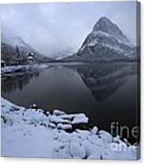 First Snow At Grinnell Canvas Print