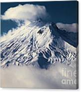 First Snow At Mt St Helens Canvas Print