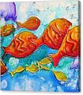 Fish Abstract Painting Canvas Print