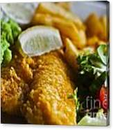 Fish And Chips Canvas Print