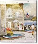 Fish Beach II Log#1517 Canvas Print