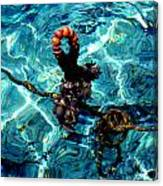 Fish Knot Santorini Greece Canvas Print