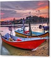 Fisherman Boats Canvas Print
