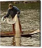 Fisherman Mekong 2 Canvas Print