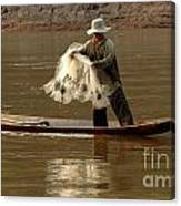 Fisherman Mekong 3 Canvas Print