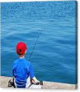Fishin' Canvas Print