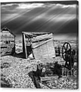 Fishing Boat Graveyard 4 Canvas Print