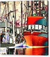 Fishing Boat In Harbor Canvas Print