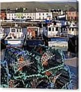 Fishing Boat Moored At A Harbor Canvas Print