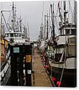Fishing Boat Walkway Canvas Print