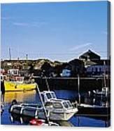 Fishing Boats At A Harbor, Slade Canvas Print