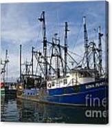Fishing Boats At Dock Canvas Print