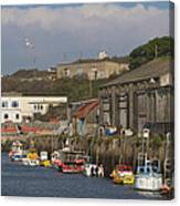 Fishing Boats Hayle Harbour Canvas Print