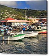 Fishing Boats In Frenchtown Canvas Print