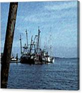 Fishing Boats In Harbor Canvas Print