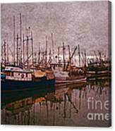 Fishing Boats Of Steveston-ca Canvas Print