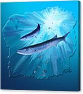 Fishing For Barracuda Canvas Print