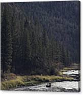 Fishing For Steelhead On The Salmon Canvas Print