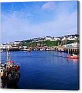 Fishing Harbour, Dunmore East, Ireland Canvas Print