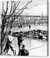 Fishing In The Bronx River,  New York Canvas Print