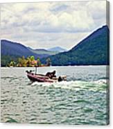 Fishing On Burton Canvas Print
