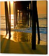 Fishing Pier And Surf II Canvas Print