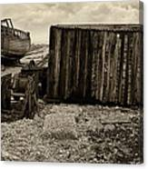 Fishing Remains At Dungeness Canvas Print