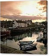 Fishing Village In Ireland Canvas Print