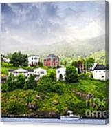 Fishing Village In Newfoundland Canvas Print
