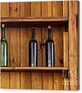 Five Bottles Canvas Print