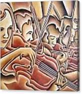 Five Violins Canvas Print