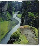 Fjardara Canyon Canvas Print