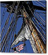 Flag In The Rigging Canvas Print