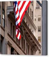 Flag On Broadway Canvas Print