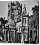 Flagler Memorial Presbyterian Church 3 - Bw Canvas Print