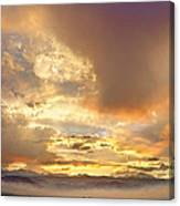Flagstaff Fire Sky Boulder Colorado Canvas Print