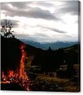 Flames With View Canvas Print