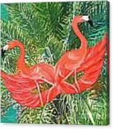 Flamingo Mask 4 Canvas Print