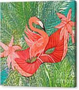 Flamingo Mask 8 Canvas Print