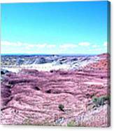 Flatlands In The Arizona Painted Desert Canvas Print