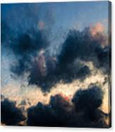 Fleecy Sunset Clouds  1208 Canvas Print