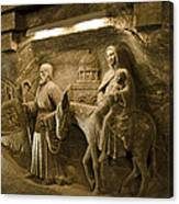 Flight Into Egypt - Wieliczka Salt Mine Canvas Print