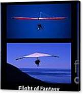 Flight Of Fantasy With Caption Canvas Print