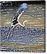 Flight Of The Egret V5 Canvas Print