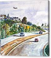 Flight To Bakersfield Canvas Print