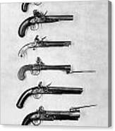 Flintlock Pistols Canvas Print