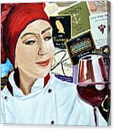 Flo Enjoys A Glass Of Wine Canvas Print