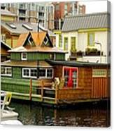 Float Home Fishermans Wharf Canvas Print